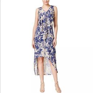 Cascade Ruffle Hi-Low Maxi Dress